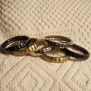 Six stretchy bracelets
